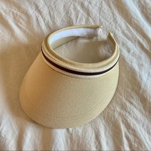 NINE WEST BEIGE VISOR CAP